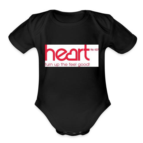 hearts - Organic Short Sleeve Baby Bodysuit
