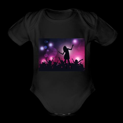 Dance Party - Organic Short Sleeve Baby Bodysuit
