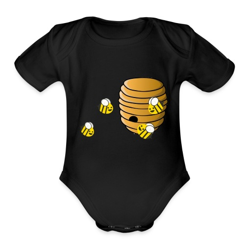The hive - Organic Short Sleeve Baby Bodysuit