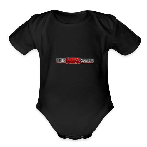 The Hex Wars Updated Logo - Organic Short Sleeve Baby Bodysuit