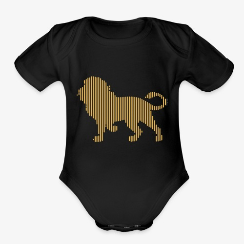 Lion Line Art - Organic Short Sleeve Baby Bodysuit