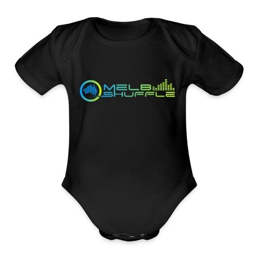Melbshuffle Gradient Logo - Organic Short Sleeve Baby Bodysuit