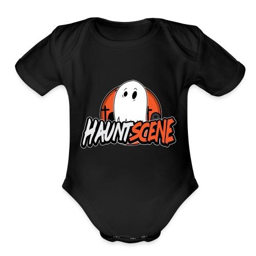 HauntScene Modern Logo 2020 - Organic Short Sleeve Baby Bodysuit