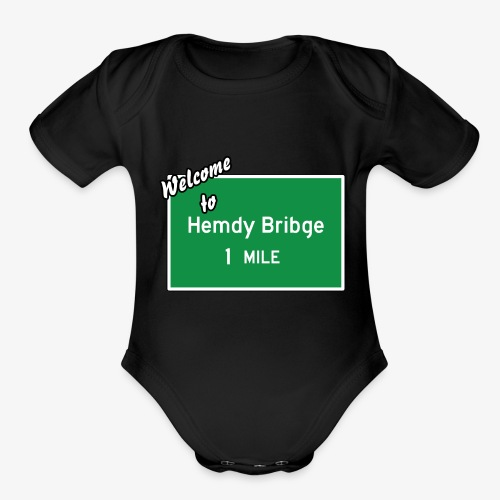 HEMDY BRIBGE Indian Trail Shirt - Organic Short Sleeve Baby Bodysuit