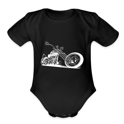 Custom American Chopper Motorcycle - Organic Short Sleeve Baby Bodysuit