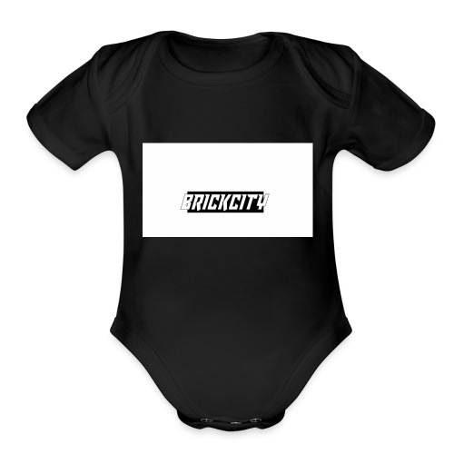 Brickcity Box Logo - Organic Short Sleeve Baby Bodysuit