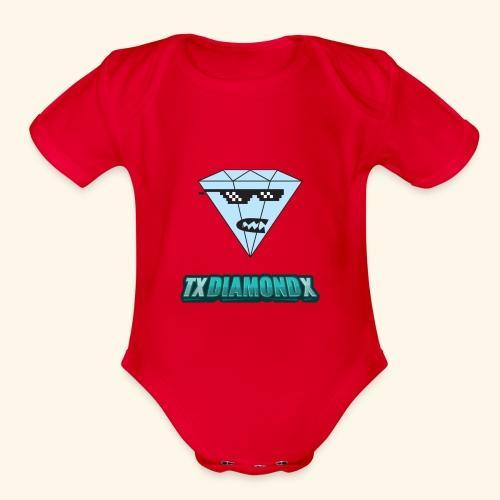 Txdiamondx Diamond Guy Logo - Organic Short Sleeve Baby Bodysuit