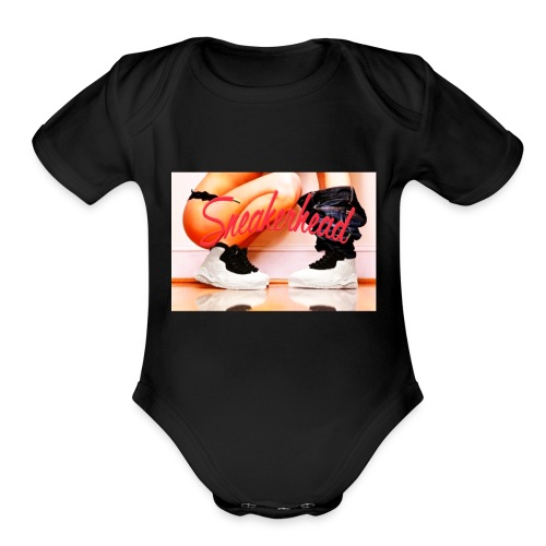 Sneaker head - Organic Short Sleeve Baby Bodysuit