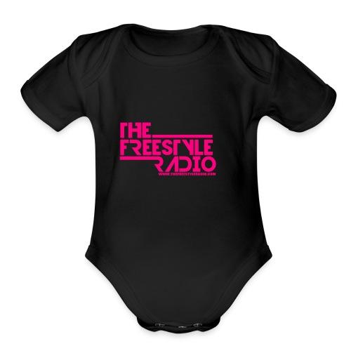 pink design logo 2018 - Organic Short Sleeve Baby Bodysuit