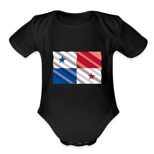 Bandera de Panamá - Organic Short Sleeve Baby Bodysuit