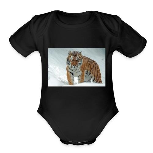 angry animal big 302304 - Organic Short Sleeve Baby Bodysuit