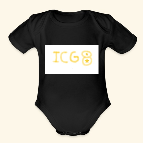 ICG8 with Paint - Organic Short Sleeve Baby Bodysuit