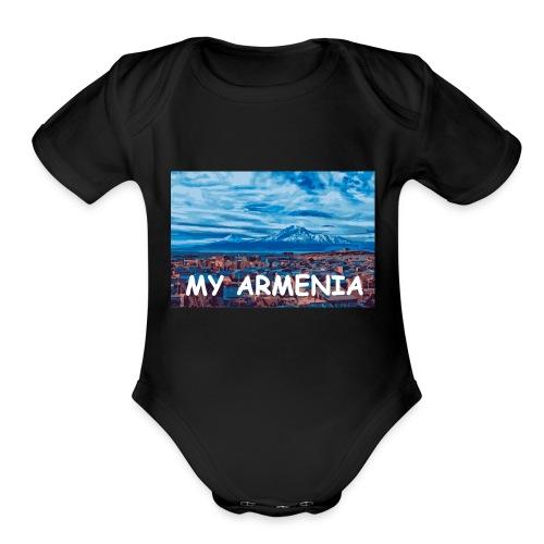 MY armenia - Organic Short Sleeve Baby Bodysuit