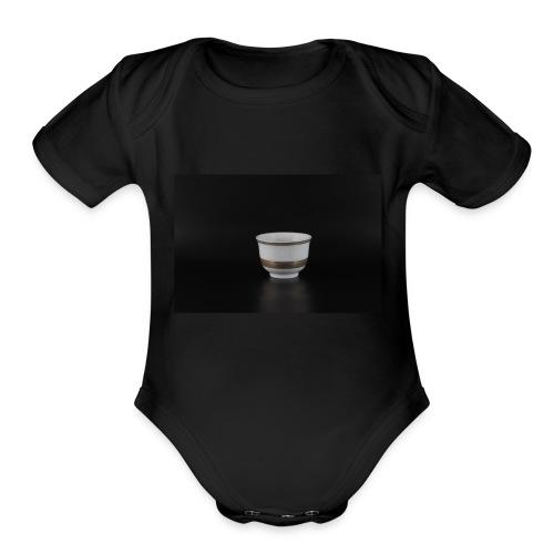 Arabic coffee cup - Organic Short Sleeve Baby Bodysuit
