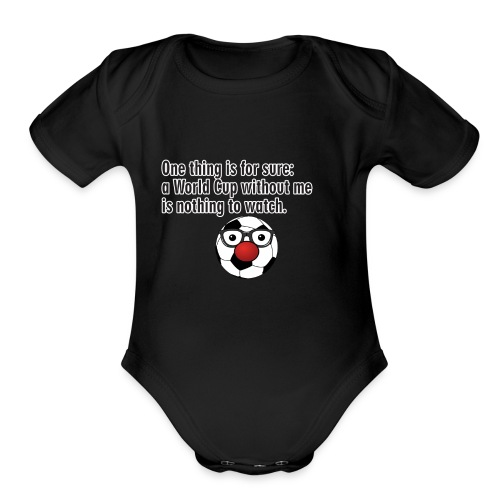 football - Organic Short Sleeve Baby Bodysuit