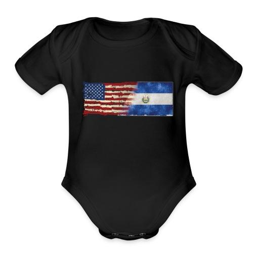 soy un americano salvadoreno - Organic Short Sleeve Baby Bodysuit