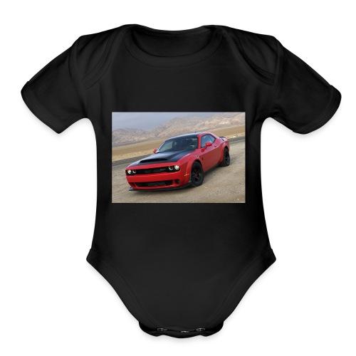 2018 Dodge Demon Prairie Front - Organic Short Sleeve Baby Bodysuit