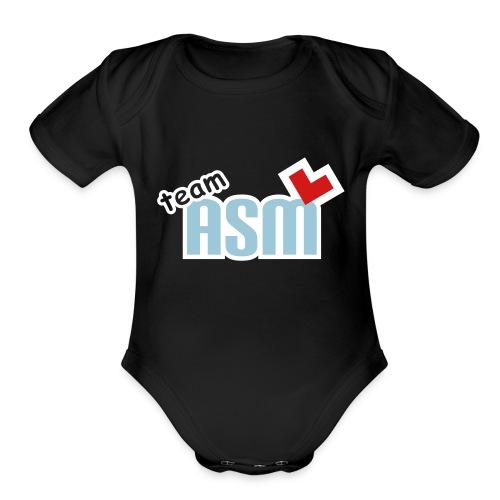 asm hat - Organic Short Sleeve Baby Bodysuit
