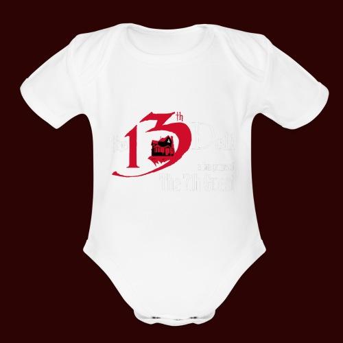 The 13th Doll Logo - Organic Short Sleeve Baby Bodysuit