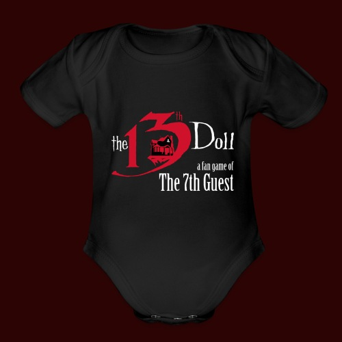 The 13th Doll Logo - Organic Short Sleeve Baby Bodysuit