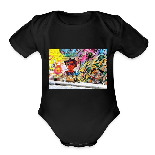Randy The Tiger Man graffiti likeness - Organic Short Sleeve Baby Bodysuit
