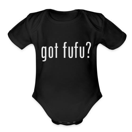 gotfufu-white - Organic Short Sleeve Baby Bodysuit