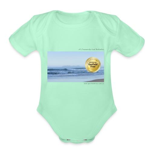Beach Collection 1 - Organic Short Sleeve Baby Bodysuit