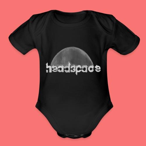 headspace logo - Organic Short Sleeve Baby Bodysuit