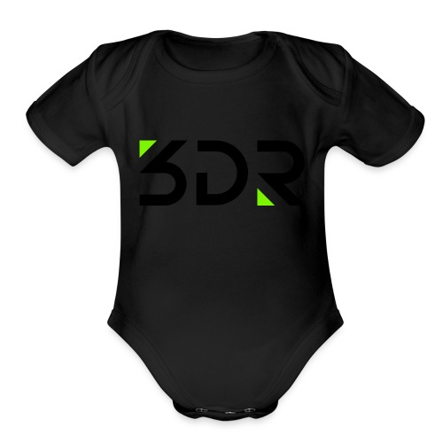 3dr logo - Organic Short Sleeve Baby Bodysuit