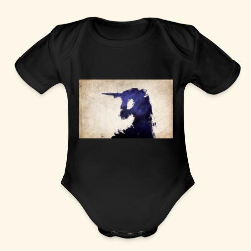 abcd - Organic Short Sleeve Baby Bodysuit