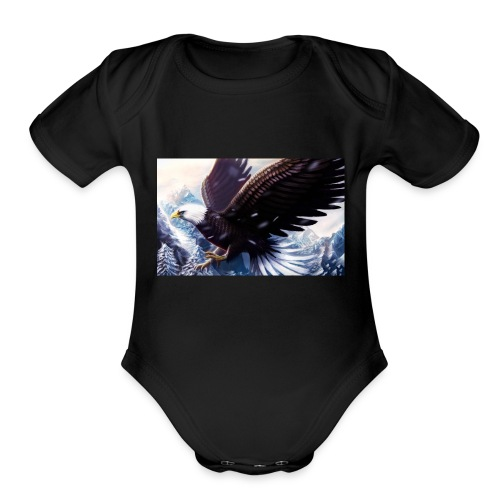 Art of the eagle - Organic Short Sleeve Baby Bodysuit