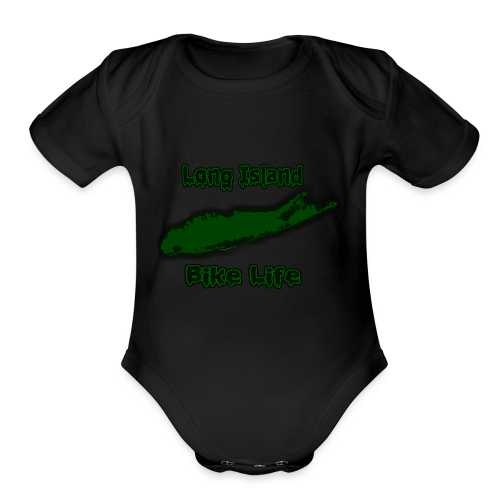 Long Island Bike Life (GREEN) - Organic Short Sleeve Baby Bodysuit