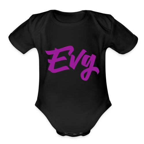 eVG Logo - Organic Short Sleeve Baby Bodysuit