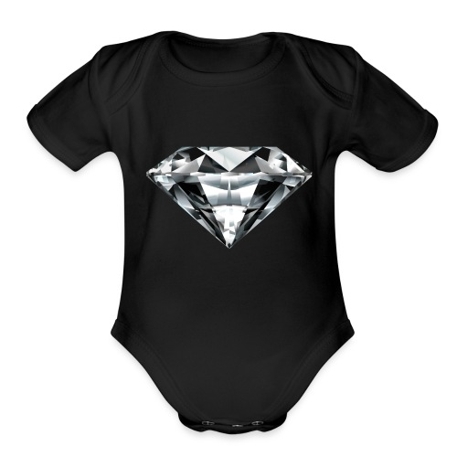 5315277 diamond 2 - Organic Short Sleeve Baby Bodysuit