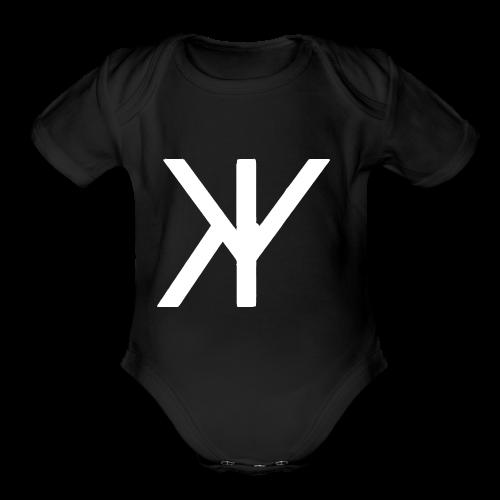 Classic Logo [White Variant] - Organic Short Sleeve Baby Bodysuit