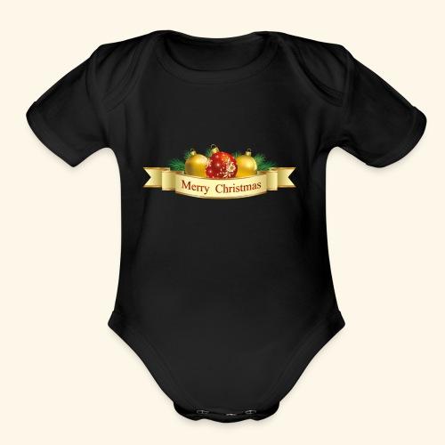 Merry Christmas To All - Organic Short Sleeve Baby Bodysuit