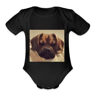 Smush Face - Short Sleeve Baby Bodysuit