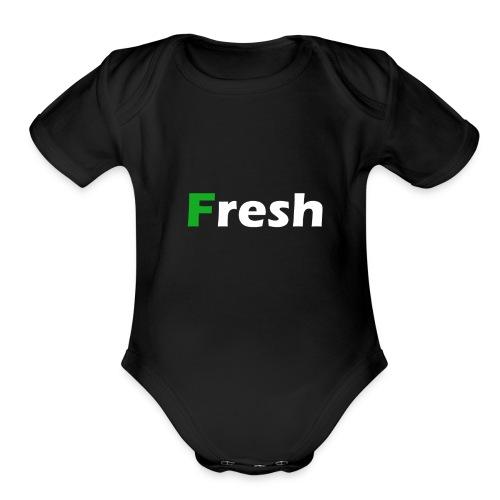 Fresh - Organic Short Sleeve Baby Bodysuit