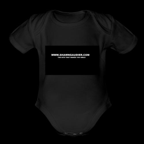 Shawn Gaudier T Shirt Logo - Organic Short Sleeve Baby Bodysuit