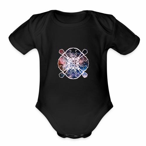 Space design - Organic Short Sleeve Baby Bodysuit