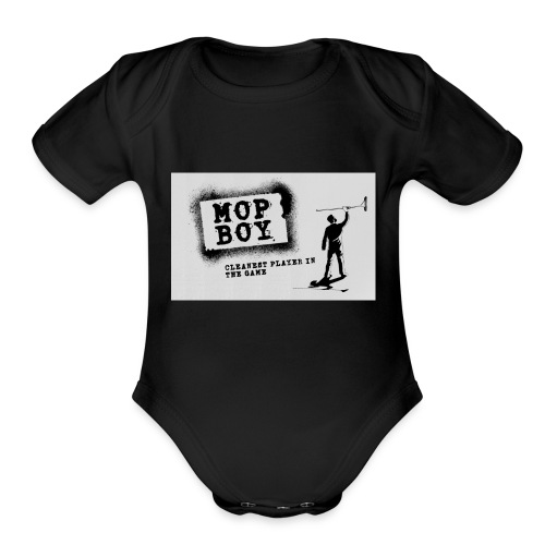 Cleanest Player White - Organic Short Sleeve Baby Bodysuit