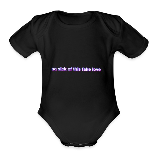 Fake Love - Organic Short Sleeve Baby Bodysuit