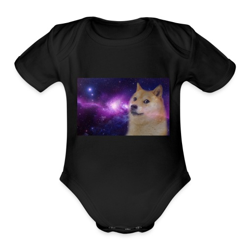 Mighty doge - Organic Short Sleeve Baby Bodysuit