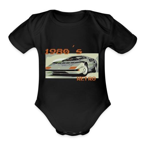 1980´s RETRO - Organic Short Sleeve Baby Bodysuit