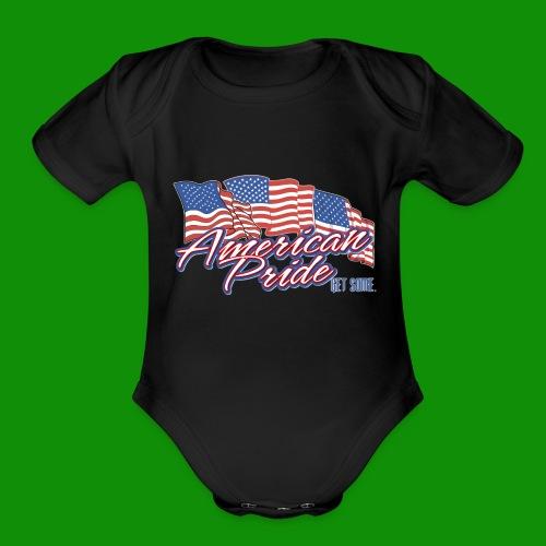 American Pride - Organic Short Sleeve Baby Bodysuit