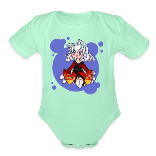 Chibi Kitsune - Organic Short Sleeve Baby Bodysuit