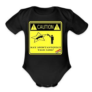 TALK_CARS - Short Sleeve Baby Bodysuit