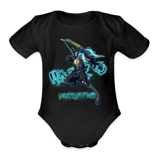 Hanzo Dragonstrike Phun - Organic Short Sleeve Baby Bodysuit