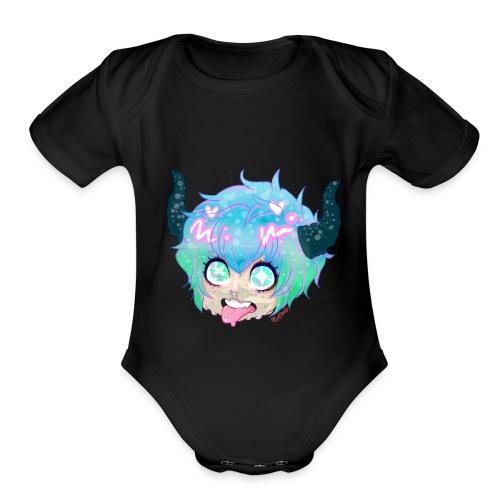 0nisticker - Organic Short Sleeve Baby Bodysuit