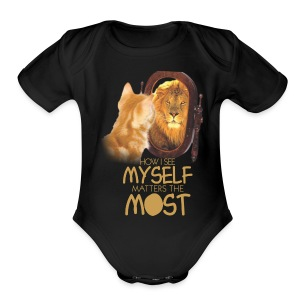 SELF WORTH AND SELF RESPECT - Short Sleeve Baby Bodysuit